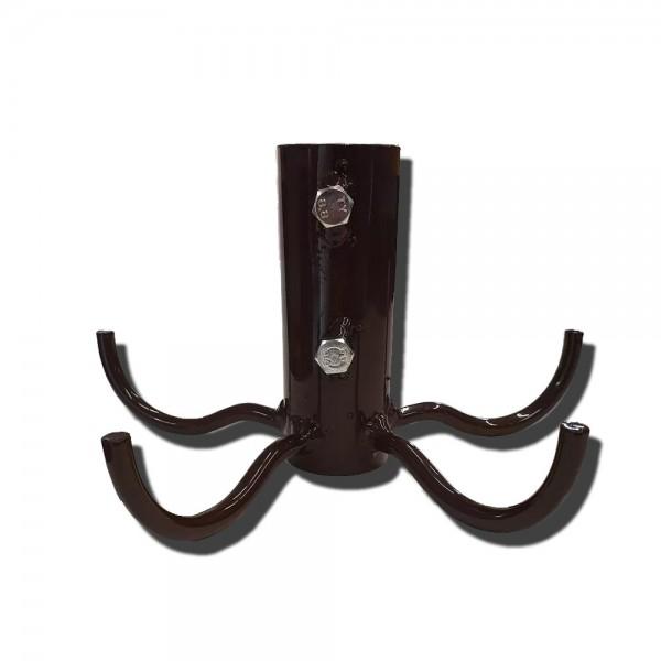 Mittelmasten Kleiderhaken braun 3,5 - 3,9 cm
