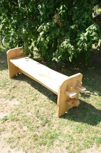 Mittelaler Holzbank - Lärche