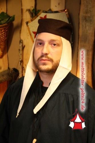 Mittelalter Kappe mit Unterziehhaube