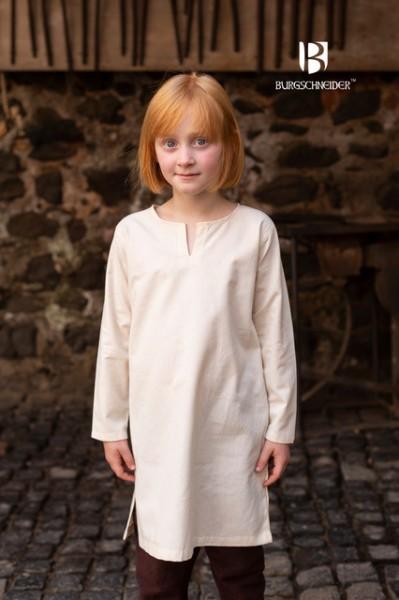 Mittelalter Kinder Untertunika Natur