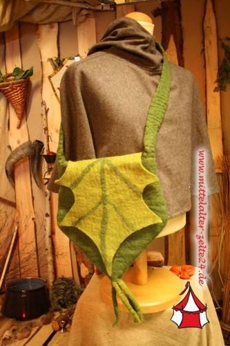 Filzhandtasche Eichenblatt