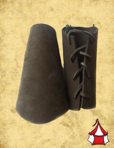 Mittelalter Armschienen Leder