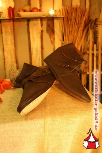 Mittelalter Schnallenschuhe dunkelbraun