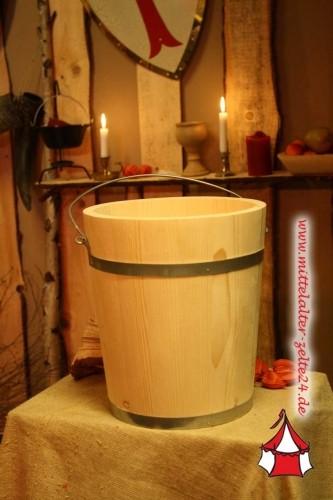 Mittelalter Holzeimer, ca. 5 Liter, Fichte
