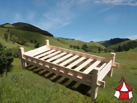 Mittelalter Wikingerbett 140 x 200 cm