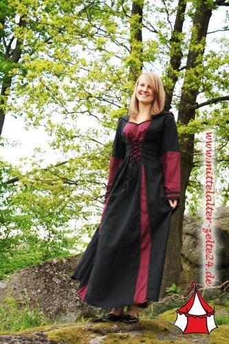 Mittelalter Kleid Anna mit Kapuze