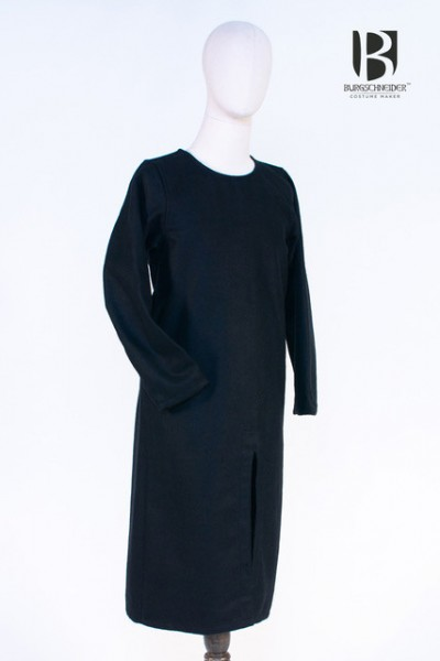 Mittelalter LangTunika schwarz/blau