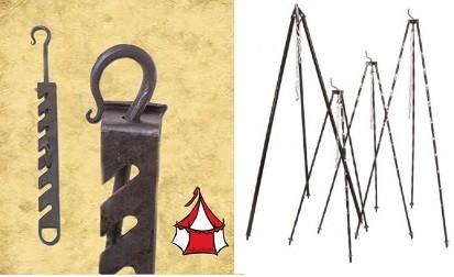 Set:Dreibein & verstellbarer Kesselhaken
