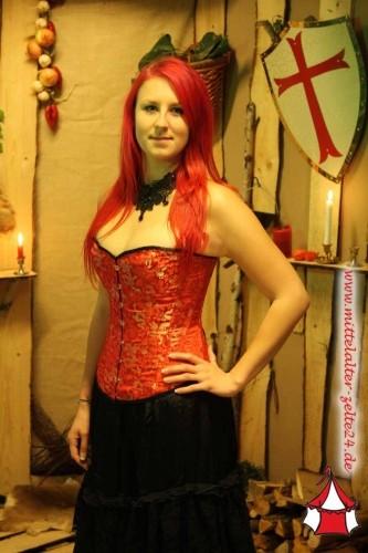 Mittelalter Korsett Red Dragon