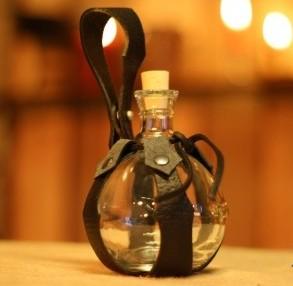 Mittelalter Feldflasche Glaskugel