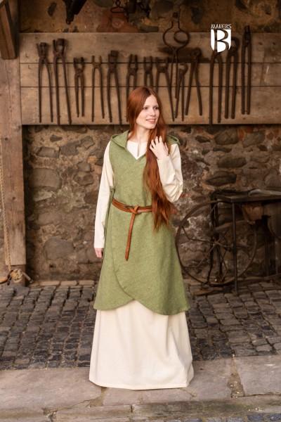 Mittelalter Wickelkleid Runa Lindgrün