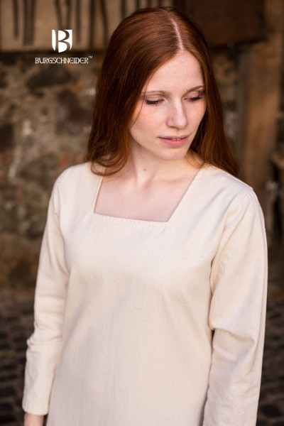 Mittelalter Unterkleid Johanna Natur