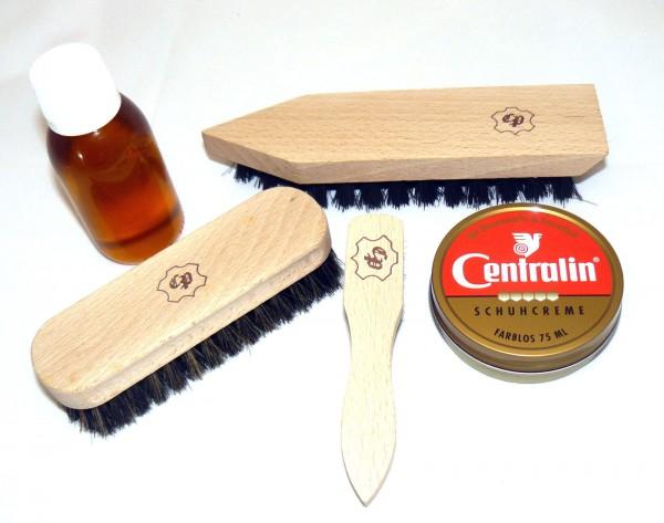 Mittelalter Schuhpflegeset Leder