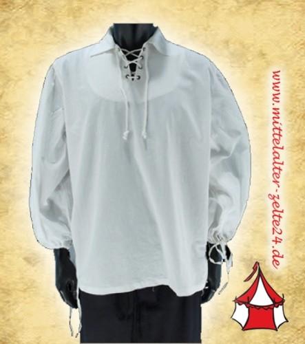 Mittelalter Fechthemd - mit Kragen